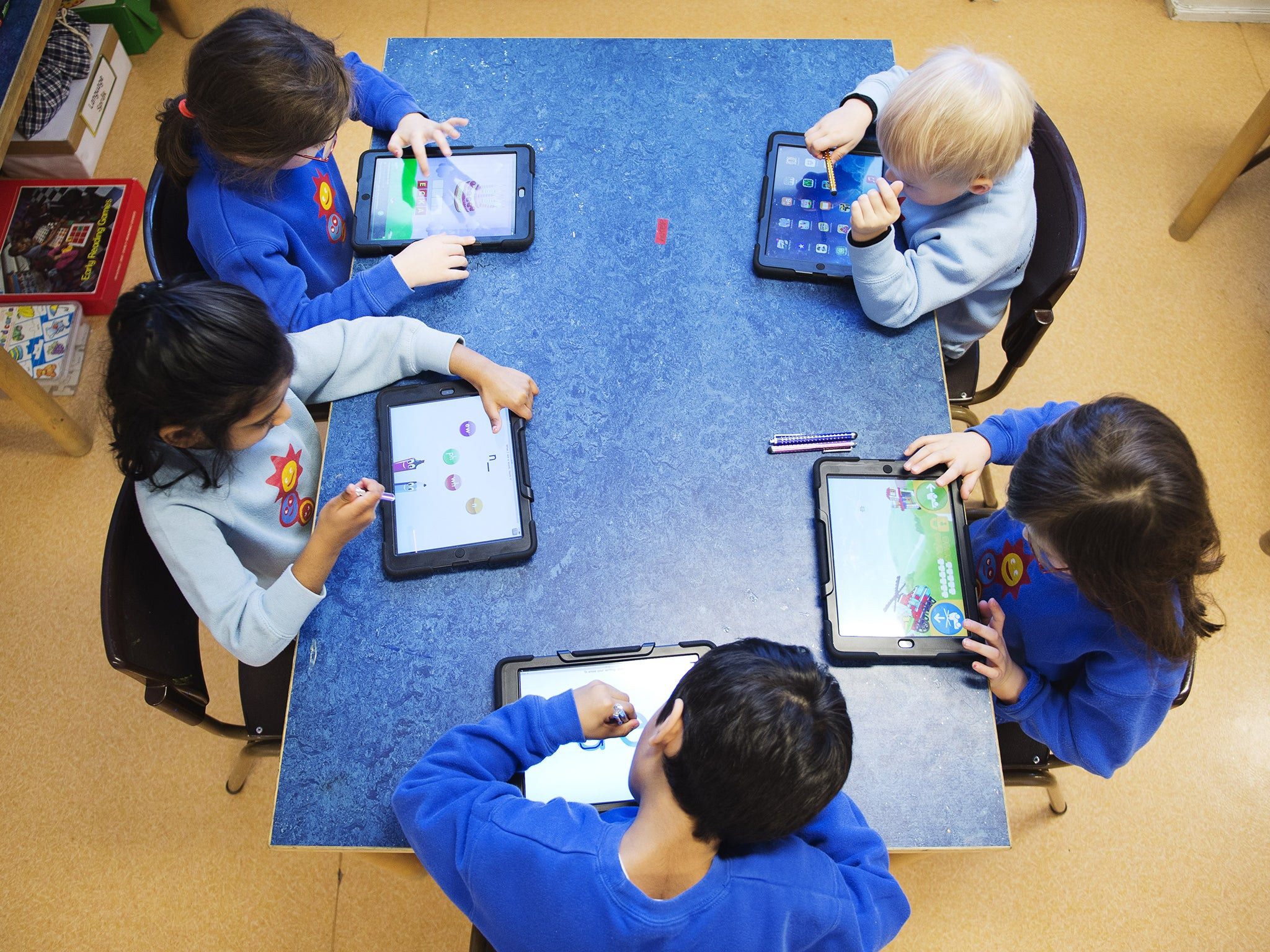 Ipads In Elementary Schools Top head says m...