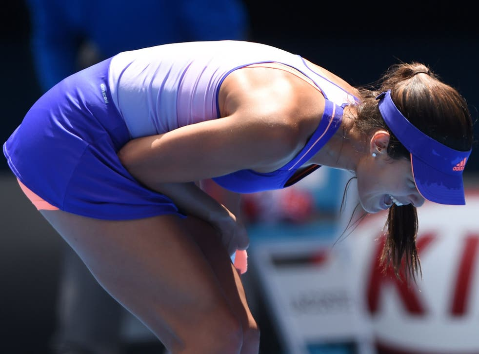 Ivanovic screams out in anger after her defeat to Hradecka