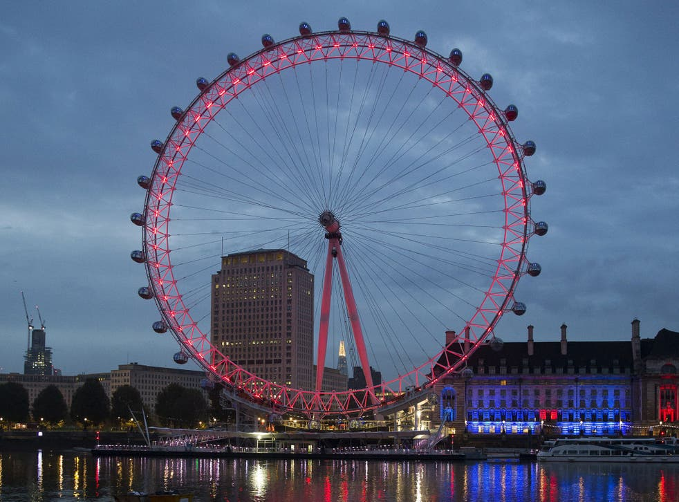 The London Eye will now light up a 'Coca Cola red' at night