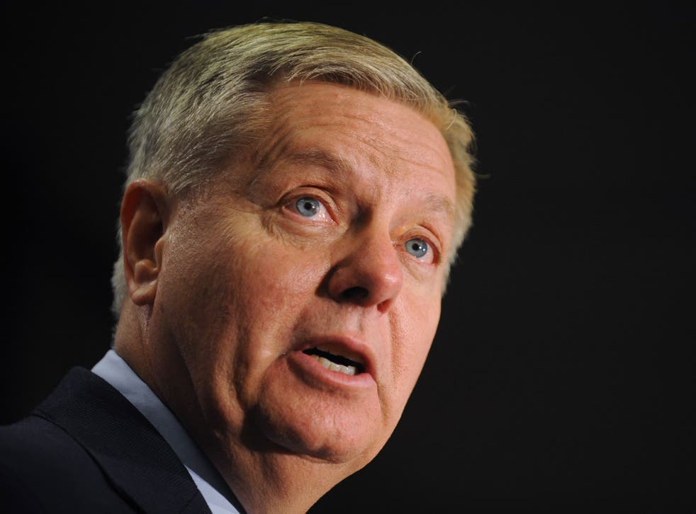 Senator Lindsey Graham said existing US legislation 'would cut off aid to the Palestinians if they filed a complaint.'
