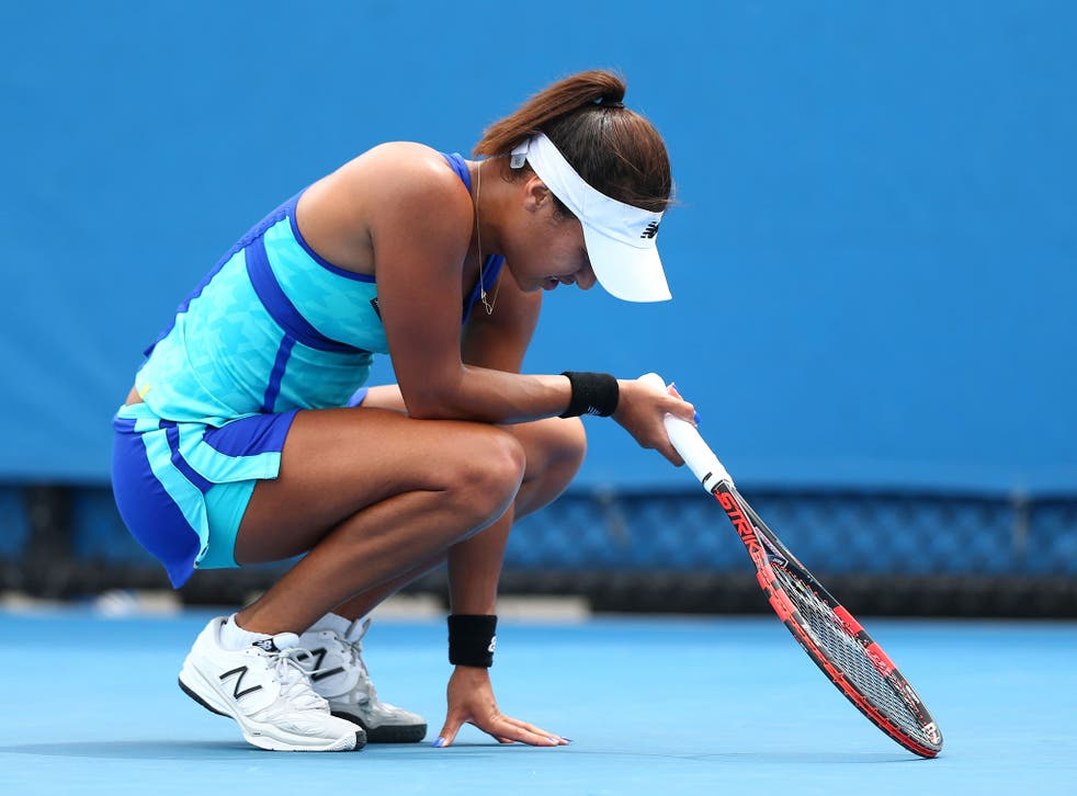 Watson was unable to carry her momentum from her Hobart International victory into the tournament