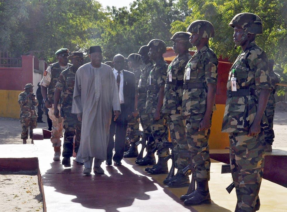President Goodluck Jonathan visits Nigerian Army soldiers fighting Boko Haram this week