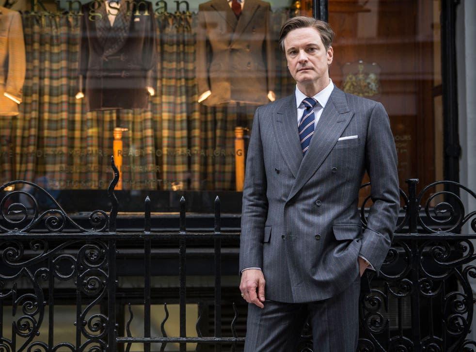 Colin Firth as super spy Harry Hart in Kingsman: The Secret Service