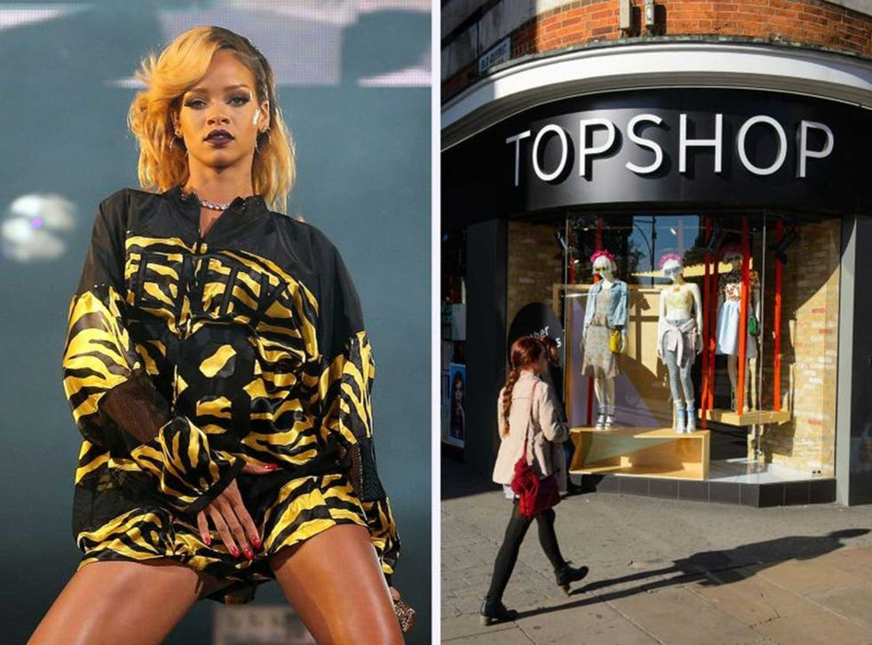A court dismissed Topshop's appeal against the use of Rihanna's image on t-shirts