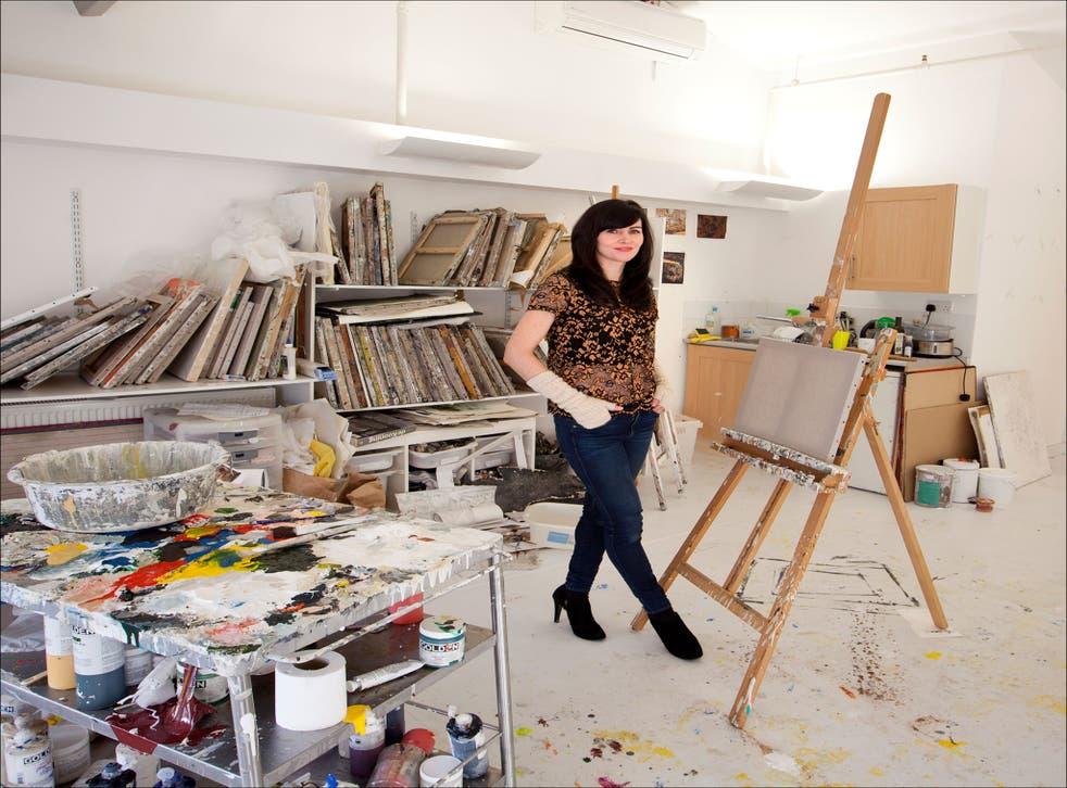 Easel does it: Katy Moran in her west London studio