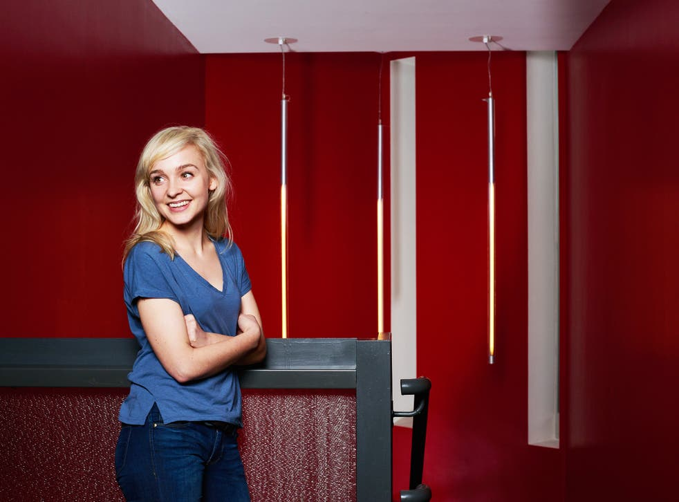 A life in stages: Olivia Vinall, 27, already playing her third major role at the National Theatre