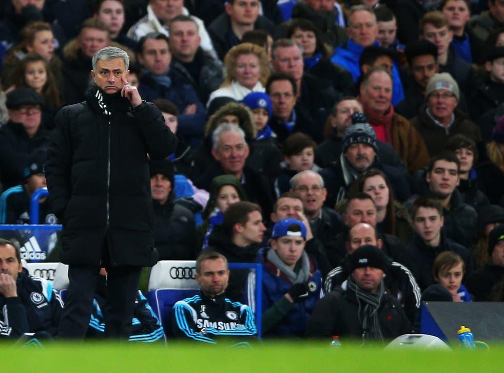 Jose Mourinho looks on on Saturday