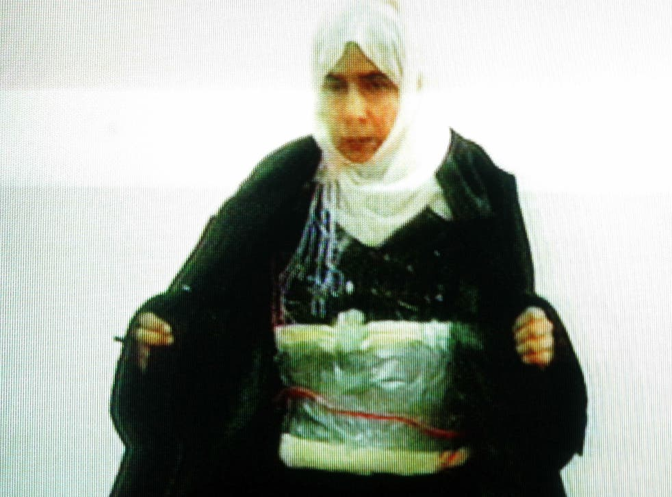 Sajida Mubarak Atrous al-Rishawi in her apparant confession on Jordanian television in 2005