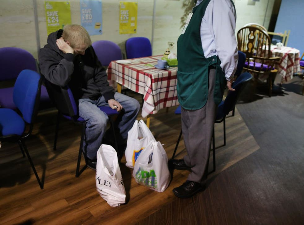 The Trussell Trust says benefit claimants are turning to food banks because they have been wrongly sanctioned for failing to attend courses (Getty)