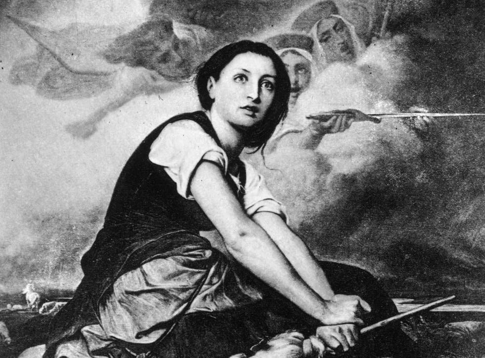 In Schiller's version of the Joan of Arc story, she is not burnt at the stake but escapes, Samson-like, from prison