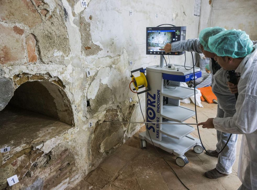 Experts use technology to search for the remains of Miguel de Cervantes in a Madrid convent (AFP)