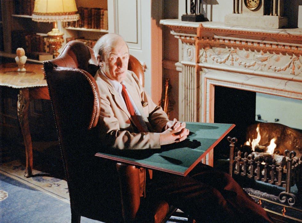 Roald Dahl photographed in the Seventies