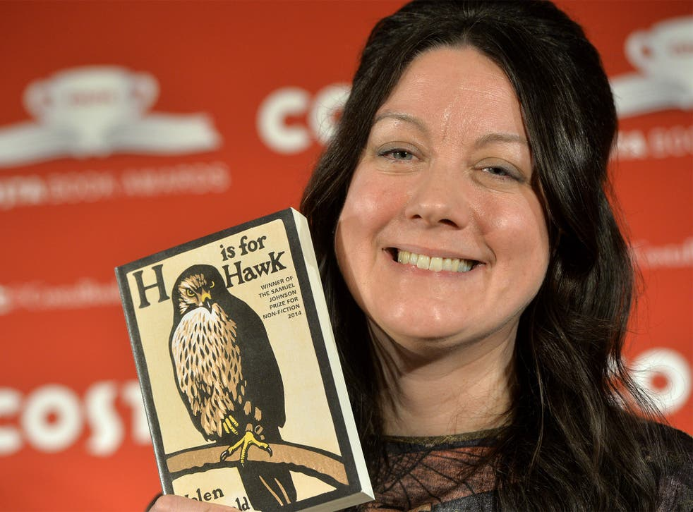 British author Helen Macdonald, pictured with Costa book of the year, 'H is for Hawk'