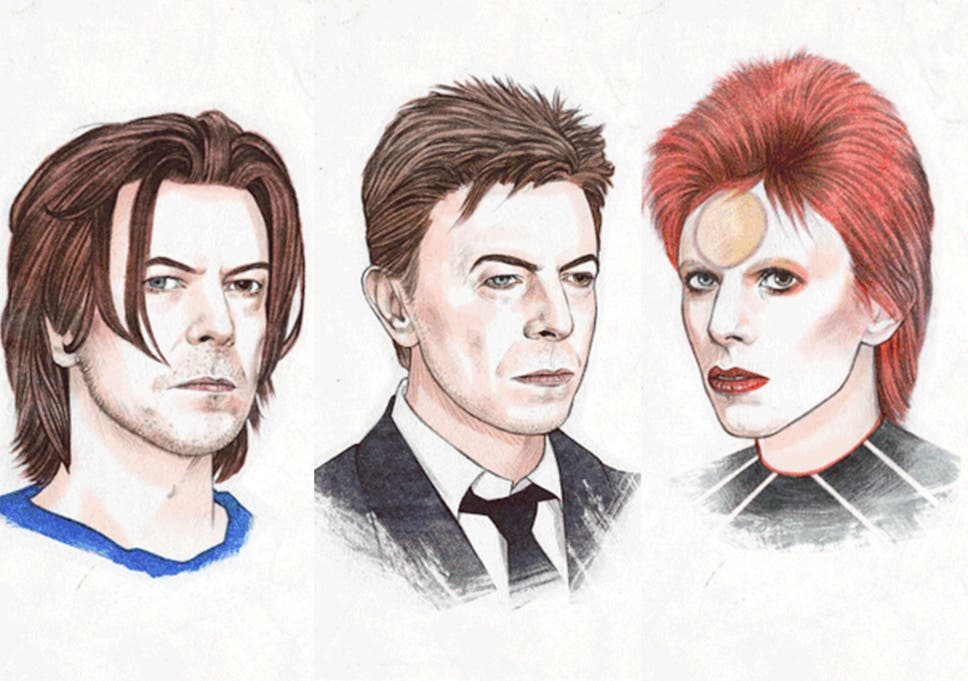 Fifty Years Of David Bowies Hairstyles In One Animated Gif The