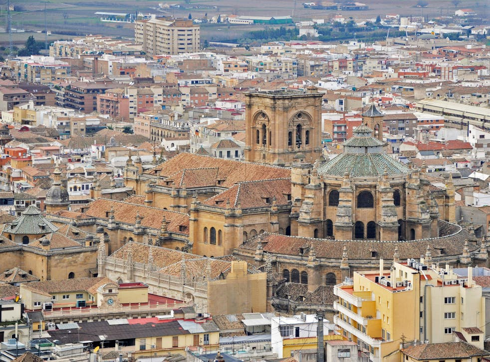 The Cathedral in the centre of the Spanish city of Granada