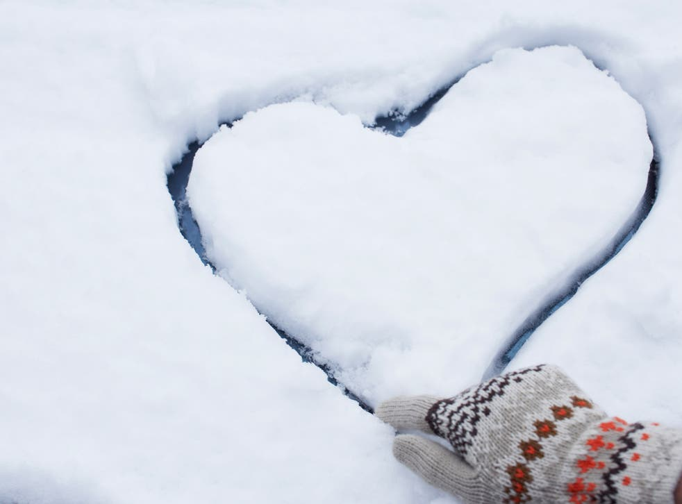 The blizzard has created a boom in traffic for dating sites and applications. File photo