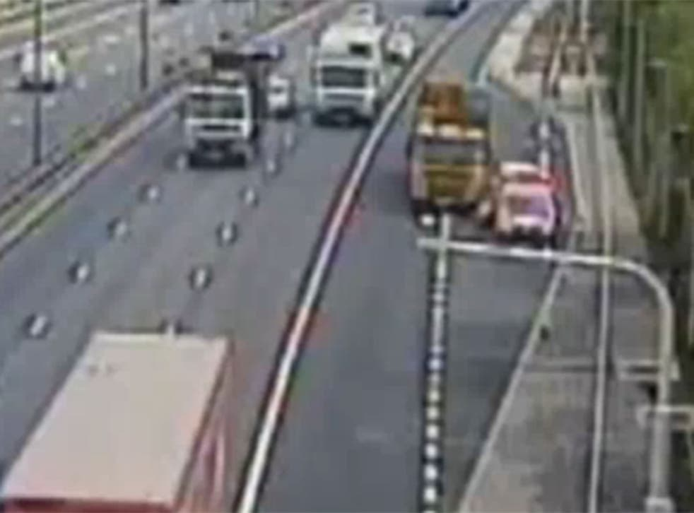 The incident happened on the M6 near Birmingham