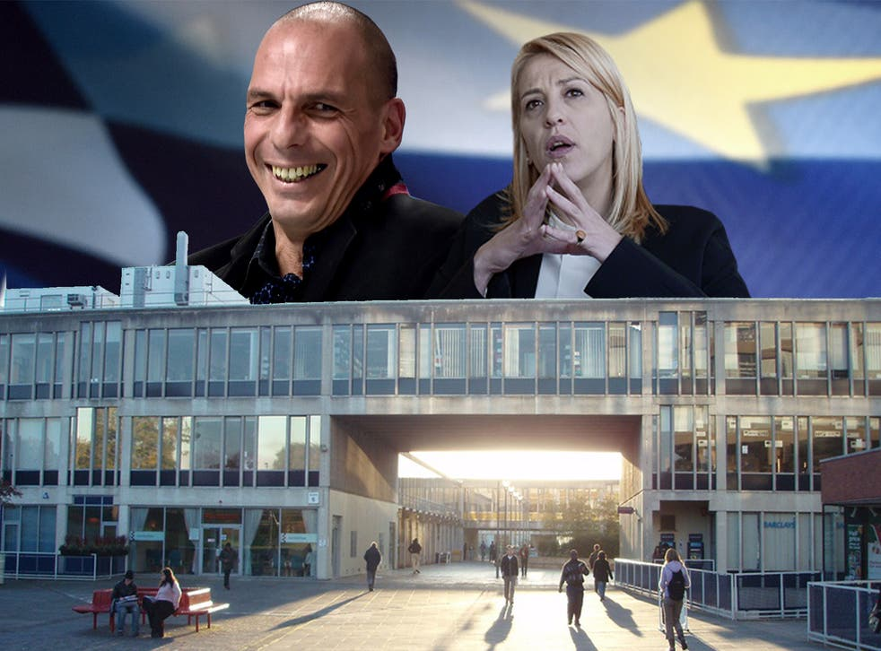 Greece's new Finance Minister Yanis Varoufakis and Rena Dourou, the prefect of Athens, are both Essex Alumni