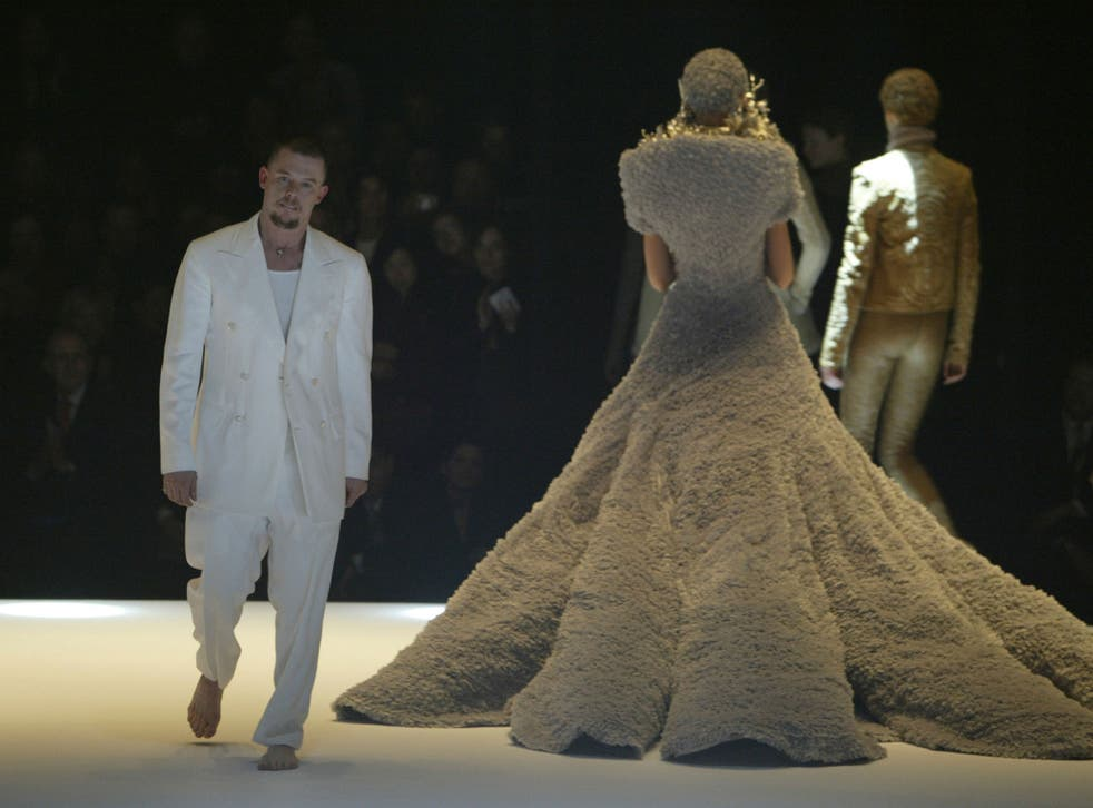 A callousness to Thomas's tales: Alexander McQueen on the catwalk in Paris, March 2004