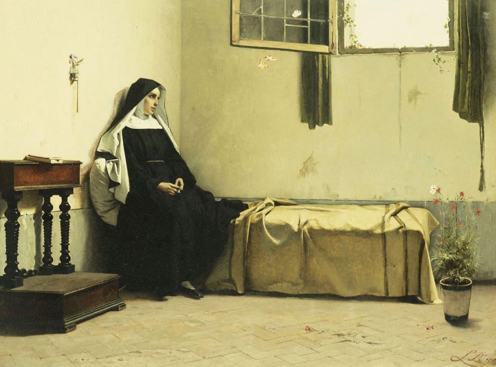 Shocking crimes: 19th-century French School painting, 'Meditation'