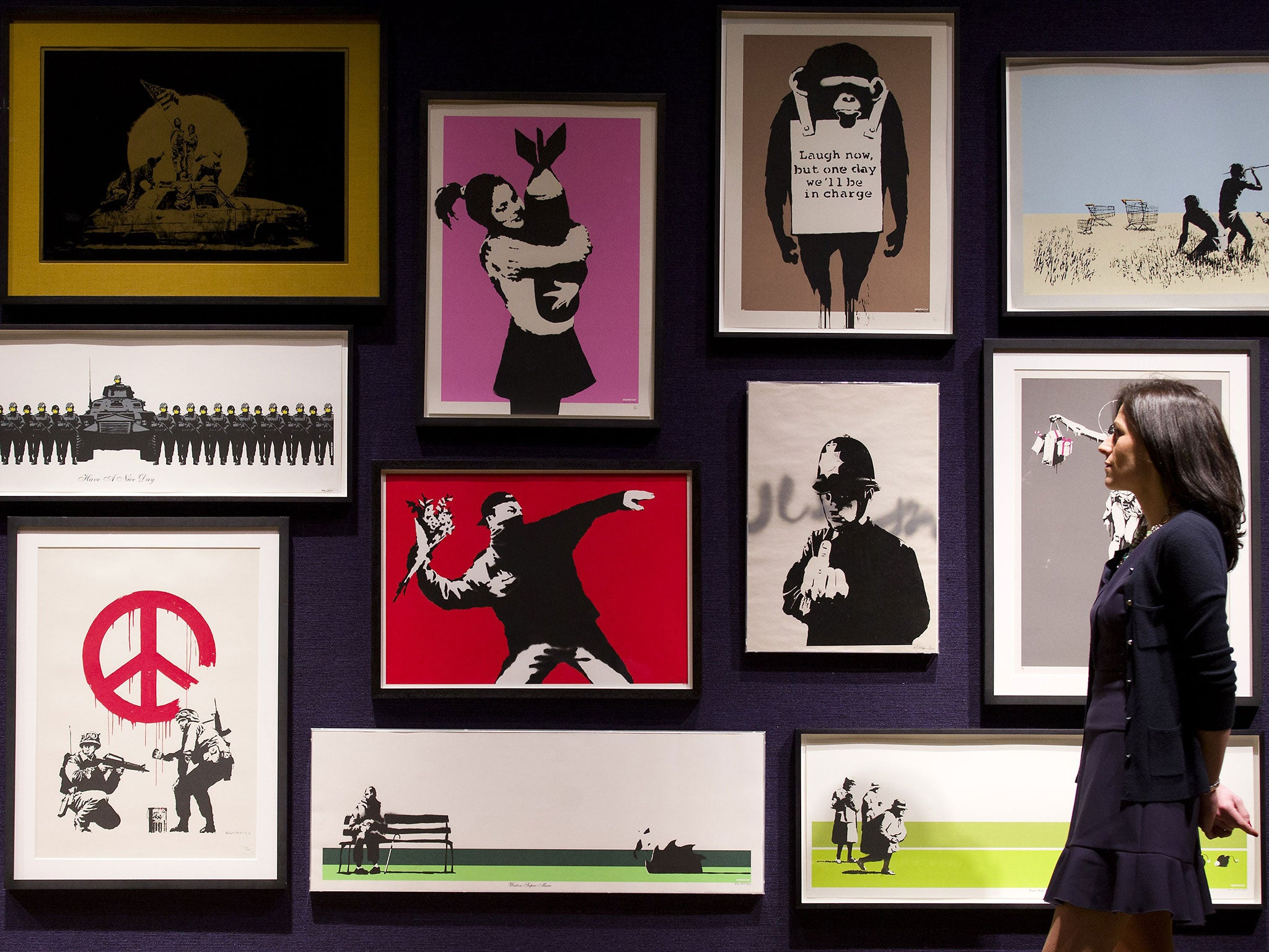 Banksy prints sell for £435,000 at Bonham's auction   The Independent