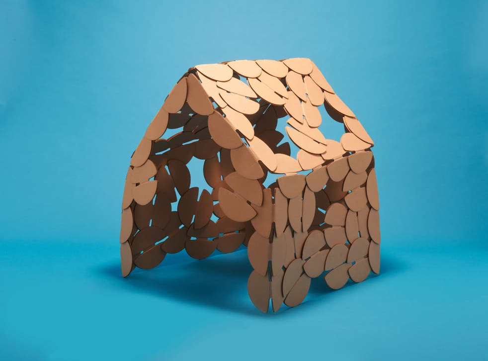 Torsten Sherwood's Noook is a simple construction toy for creating mini-architecture