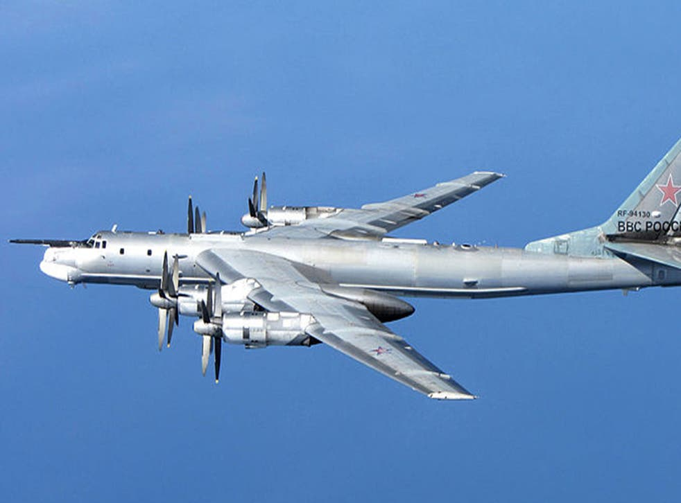 A Russian Tu-95 Bear 'H' photographed in Scotland