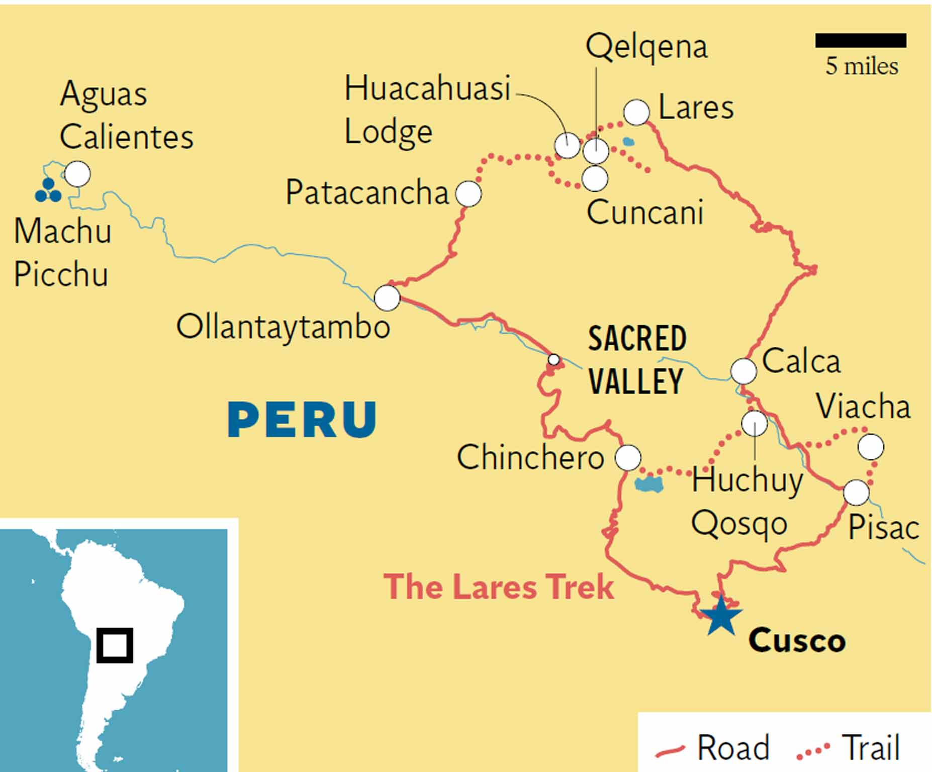 Aguas Calientes Peru Map.Peru S Lares Trek Head For The Clouds The Independent