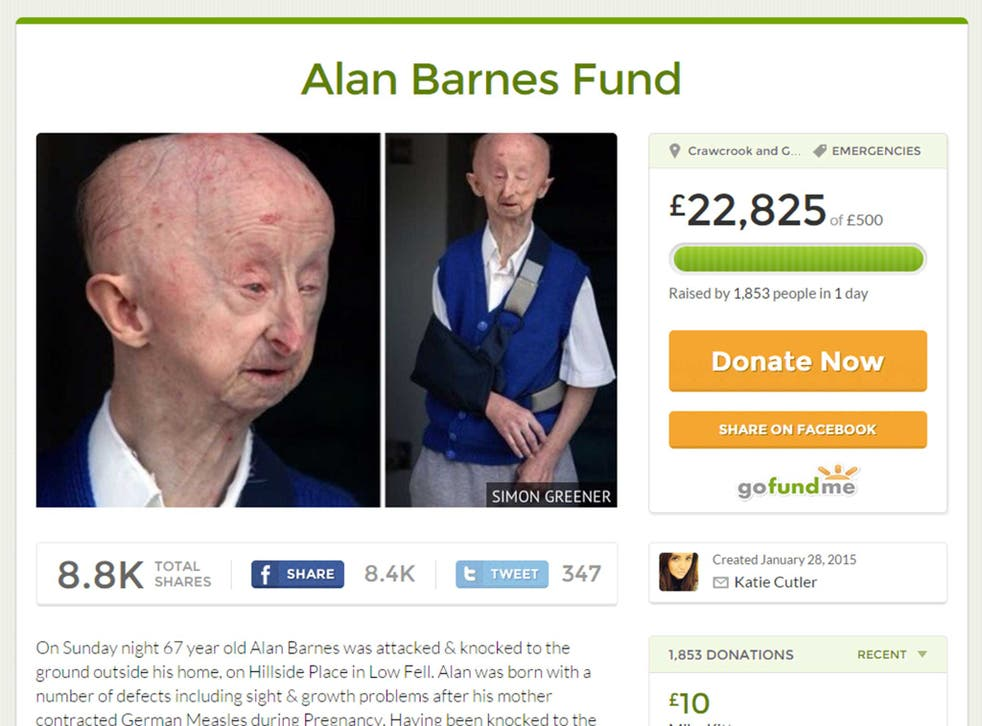 Ms Cutler's page set up for Alan Barnes