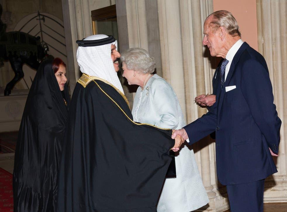King Hamad bin Issa al-Khalifa with Prince Philip in 2012