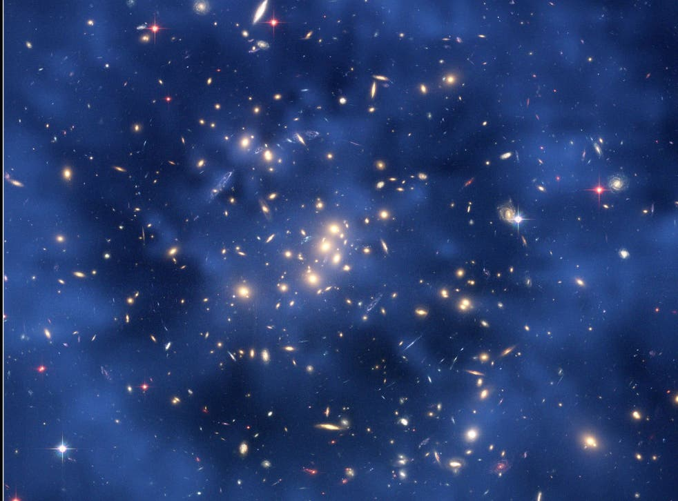 Dark Matter ring in the galaxy cluster