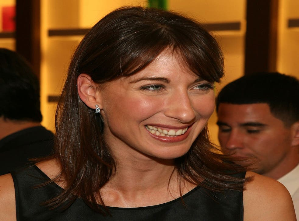 Samantha Cameron pictured at the Smythson, Rodeo Drive store launch party on 26 September, 2007, in Beverly Hills, California