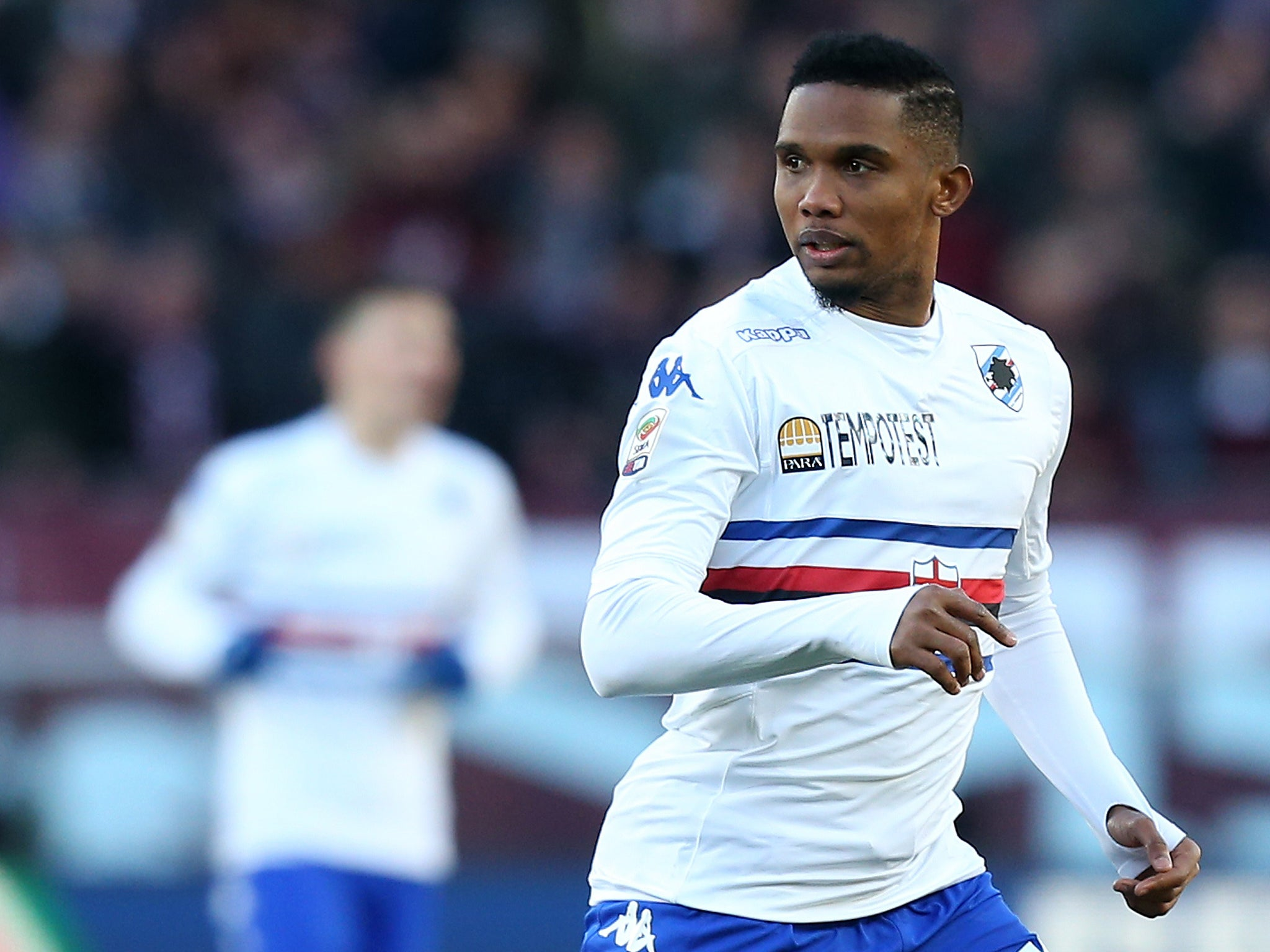 Samuel Eto o Former Chelsea and Everton striker dropped by