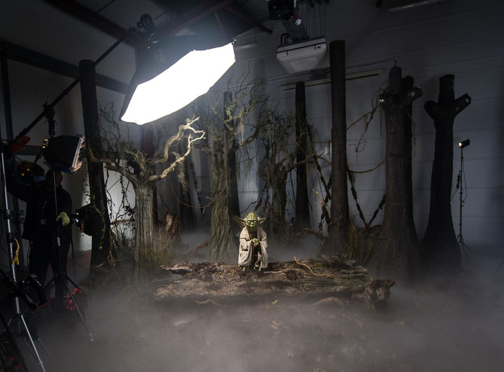 Yoda, the first wax figure destined for the new Madame Tussauds Star Wars experience, is revealed