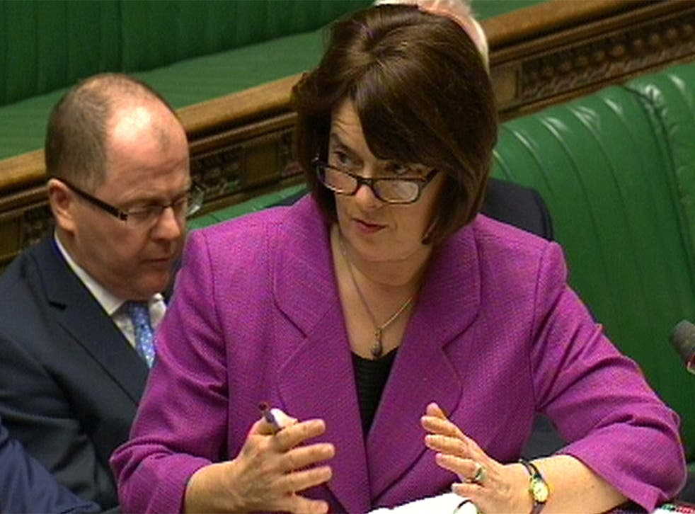 Then-health minister Jane Ellison speaking in the Commons in 2015