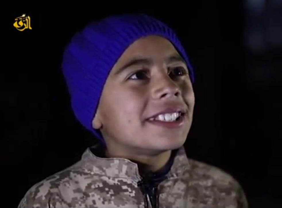 A young boy interviewed in the video after watching the pilot's death