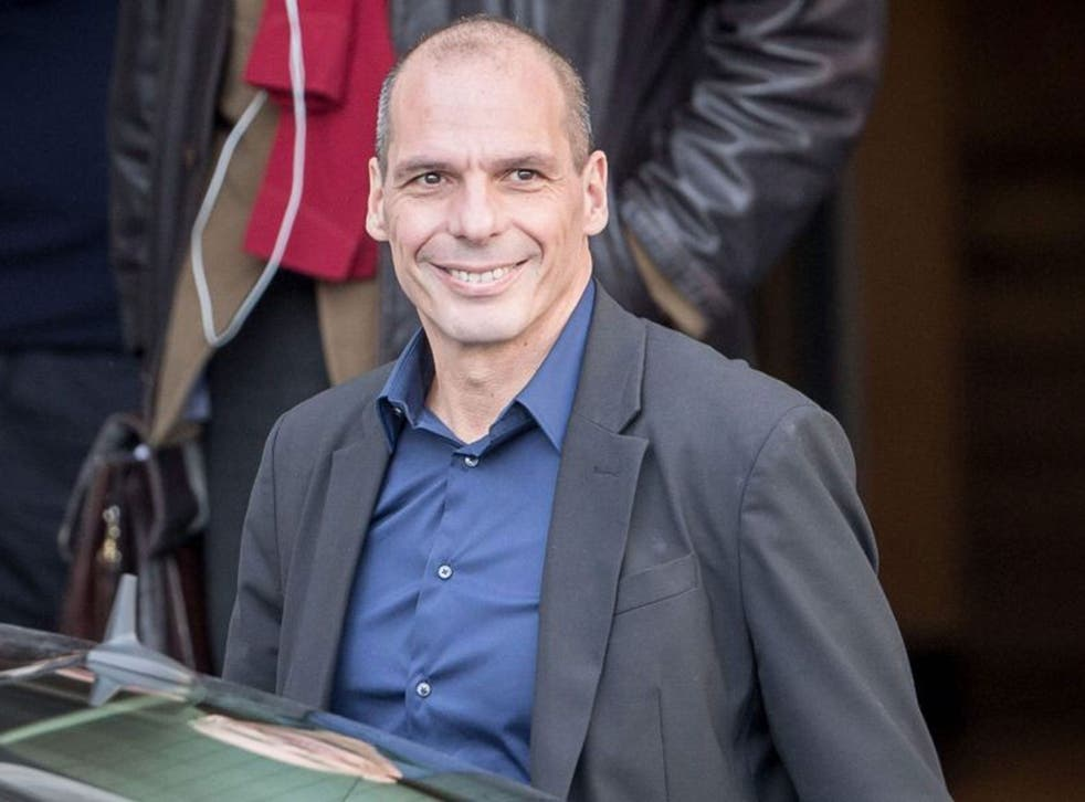 Greek Finance Minister Yanis Varoufakis arrives at the German Finance Ministry to take part in bilateral talks with his German counterpart Schaeuble in Berlin, Germany, on 5 February, 2015