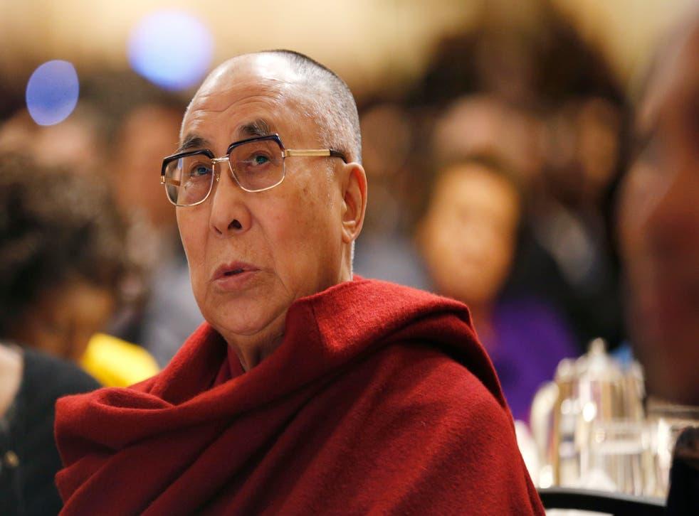 The Dalai Lama attended the prayer breakfast meeting in Washington