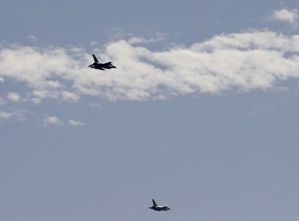Jordanian planes flew over Amman in a display of support for the king