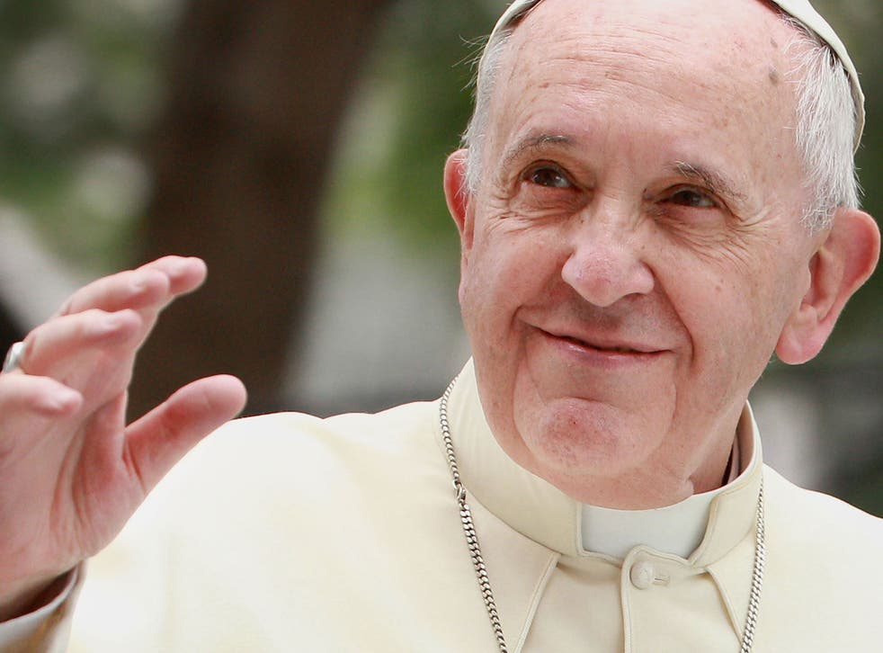 """""""Our world has a grave social debt towards the poor,"""" Pope Francis said"""