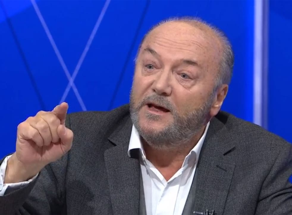 Bradford West MP, George Galloway, clashes with audience members on BBC Question Time.
