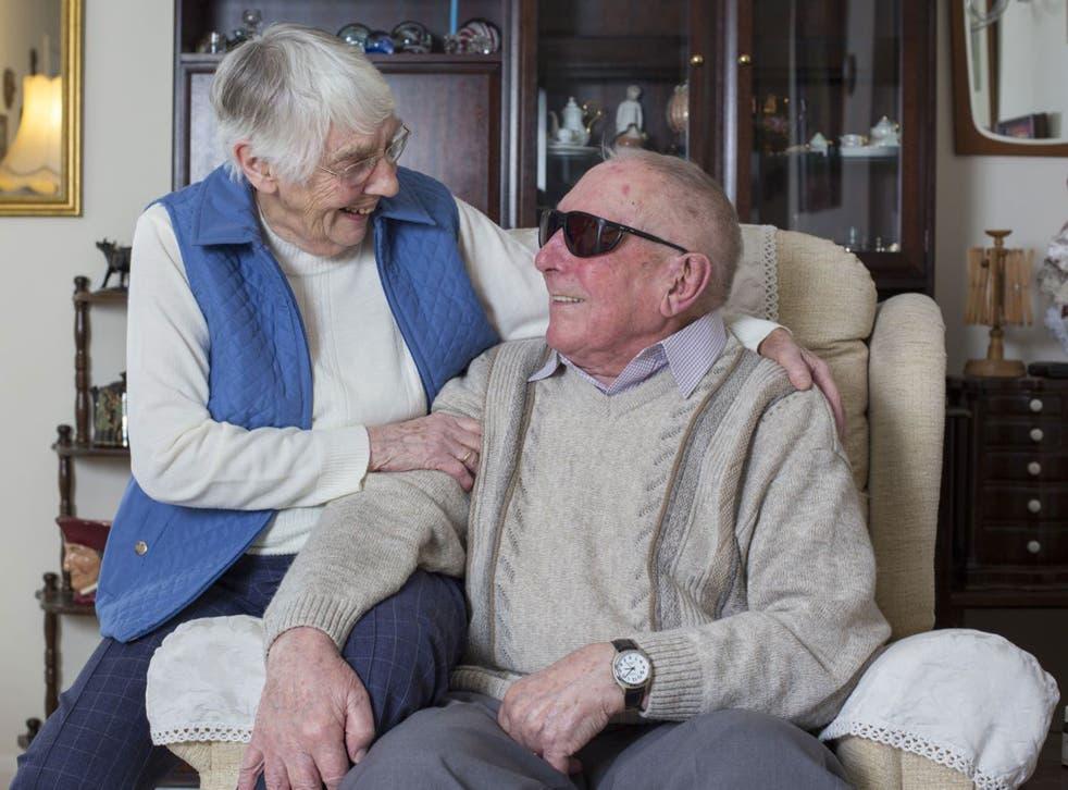 Dennis Hatch and Nancy Roberts met at a centre for blind veterans