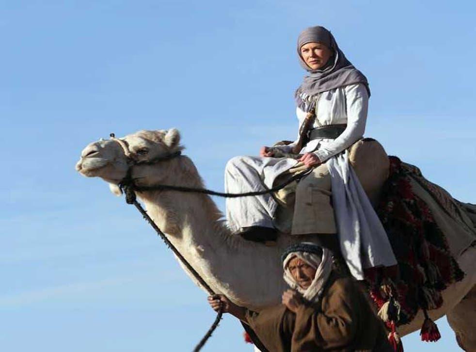 Nicole Kidman in a still from the film 'Queen of the Desert' by director Werner Herzog.