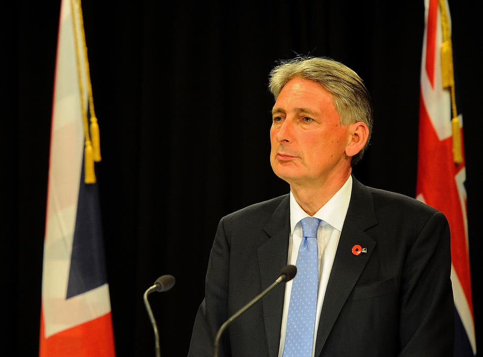 UK Foreign Secretary, Philip Hammond, speaks to the media in Wellington, New Zealand, 3 February, 2015