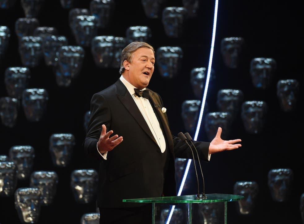 Stephen Fry hosting the 2015 Baftas