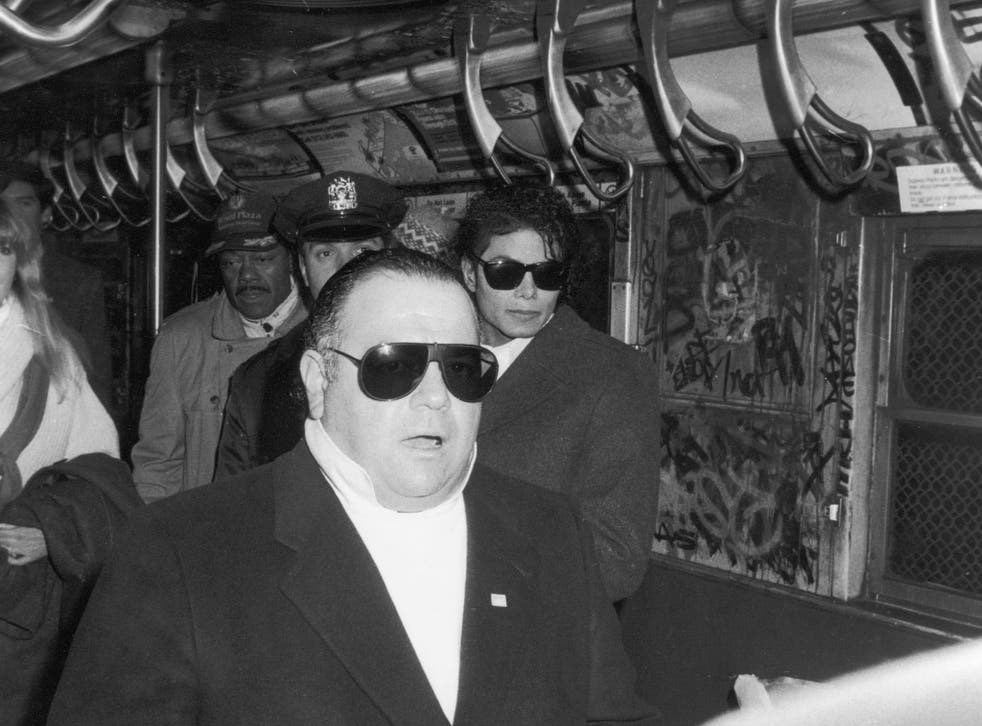 """DiLeo and Jackson on the set of """"Bad"""" in 1987"""