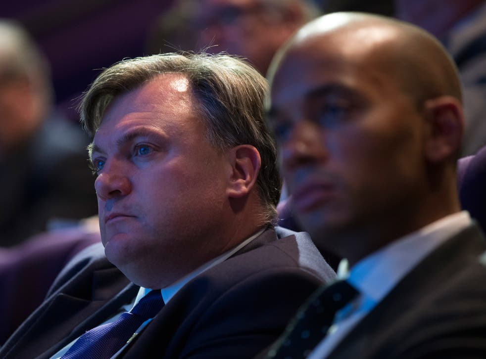 Ed Balls, left, and Chuka Umunna will issue a positive pro-business message at the BCC this week
