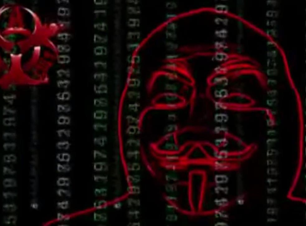 A still from the latest Anonymous video