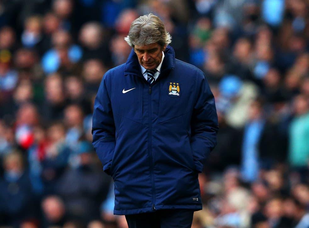 Manchester City manager Manuel Pellegrini claims he 'does not feel pressure'