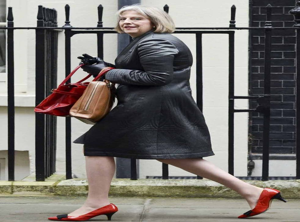 Sole sister: Fancy a shoe-shopping trip with Home Secretary Theresa May?